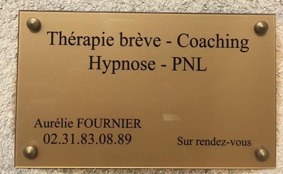 Plaque Aurélie Fournier Hypnose Caen Mondeville